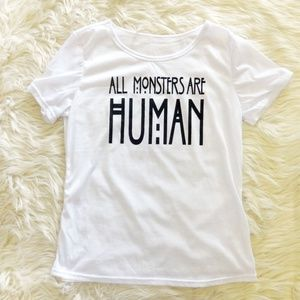 Tops - American Horror Story All Monsters Are Human Shirt